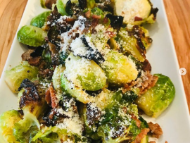 Maple Sriracha Crispy Brussel Sprouts 1