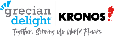 Kronos and Grecian Delight joint logo